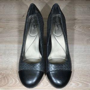 Life Stride - Simply Comfort - Black & Grey Weave